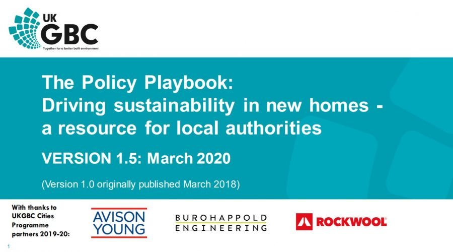 The Policy Playbook: Driving sustainability in new homes – a resource for local authorities