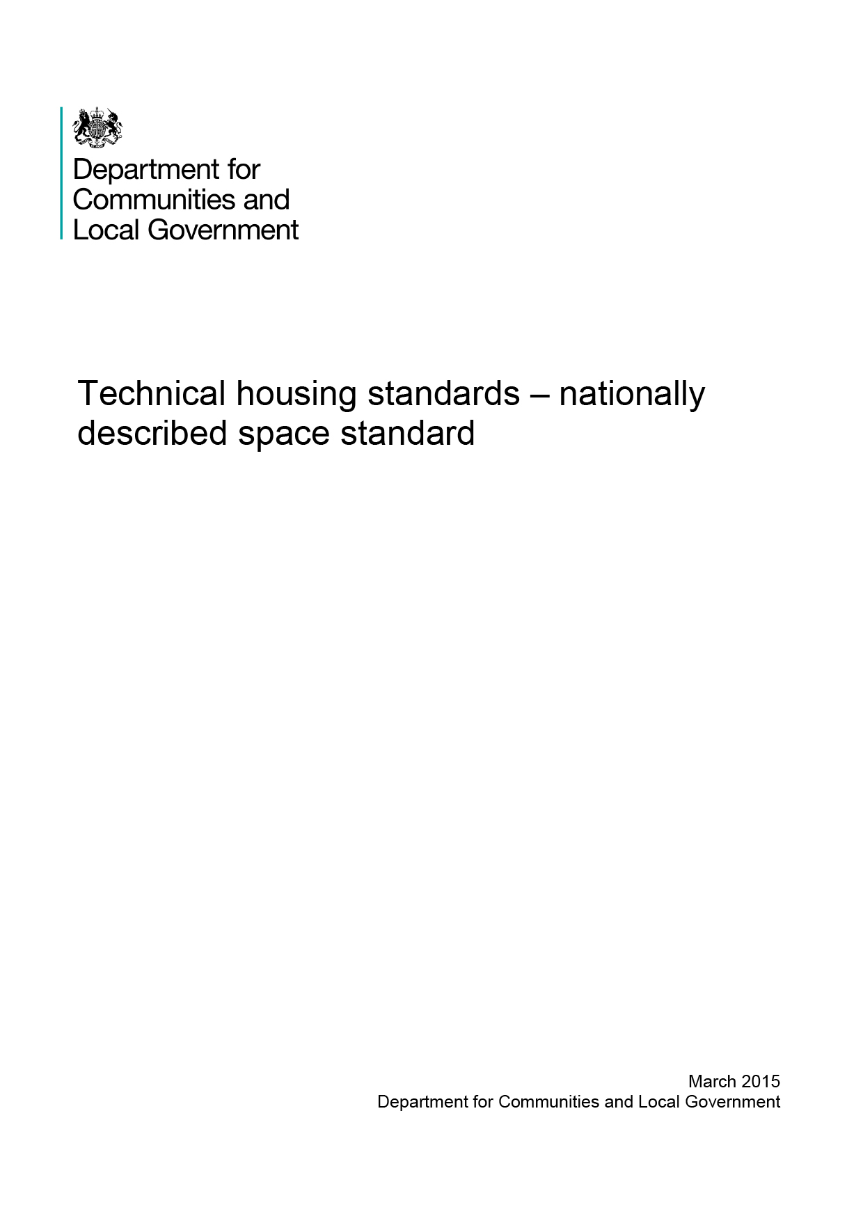 Technical housing standards – nationally described space standard