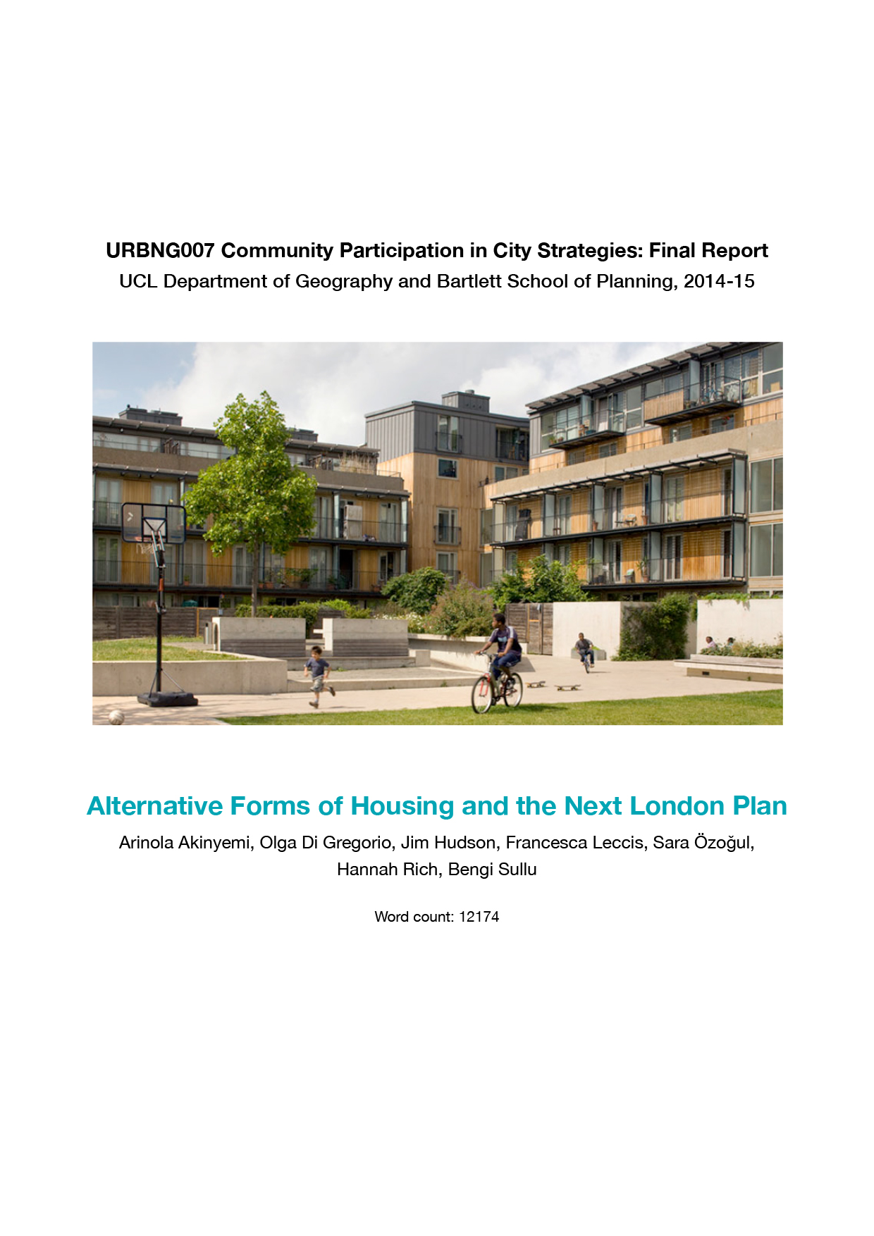 Alternative Forms of Housing and the Next London Plan